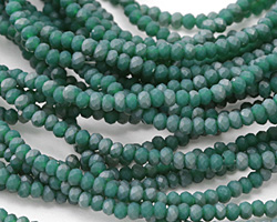 Matte Spruce AB Crystal Faceted Rondelle 3mm