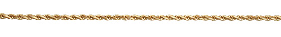Satin Hamilton Gold (plated) Rope Chain