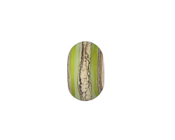 A Beaded Gift Silvered Grass Green Layers Rondelle (large hole) 9-10x14-15mm