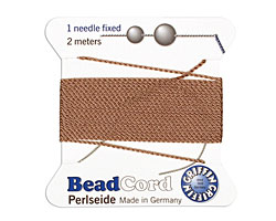 Beige Griffin Nylon Beading Cord Size 8, 2 meters