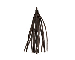 Red Brown Small Nappa Leather Tassel