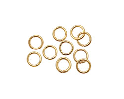 Satin Hamilton Gold (plated) Round Jump Ring 6mm, 21 gauge