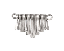 Zola Elements Antique Silver (plated) Short Teardrop Graduated Paddle Set 34x14-22mm
