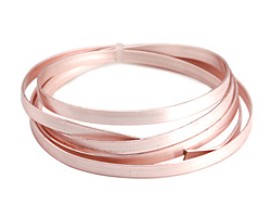 Flat Artistic Wire Rose Gold 5mm 21 gauge, 3 feet