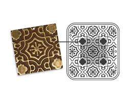 """Vintaj DecoEmboss Die Moroccan Tile 2 3/8"""" x 2 5/8"""""""