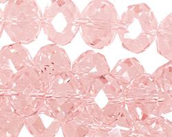 Light Rose Crystal Faceted Rondelle 14mm