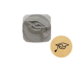 Graduation Cap Metal Stamp 5mm