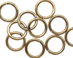 Antique Gold (plated) Jump Ring 12mm, 13 gauge