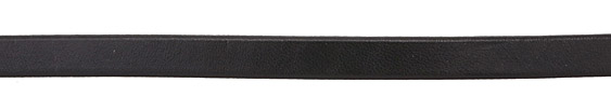 Black Flat Leather Cord 10mm