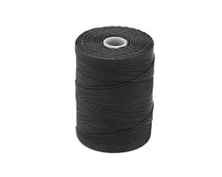 C-Lon Charcoal Fine Weight (.4mm) Bead Cord