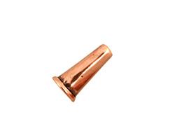 Antique Copper (plated) Small Plain Cone 15x8mm
