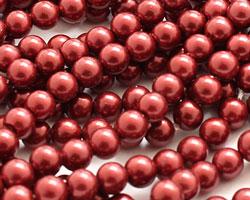 Black Cherry Shell Pearl Round 4mm