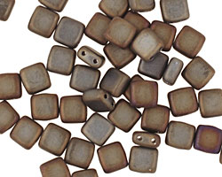 CzechMates Glass Matte Iris Brown 2-Hole Tile 6mm