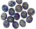 Czech Glass Cobalt Seas Picasso UFO 7x9mm