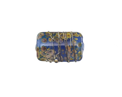 A Beaded Gift Dusted Egypt Raku Small Kalera 17-18x11-12mm