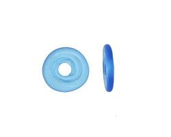 A Beaded Gift Aqua Glass Mini Disc 12-14mm