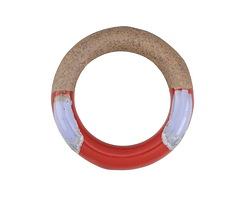 Fire & Ice Half-Glazed Porcelain Ring Focal 47-50mm