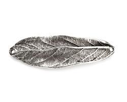 Nunn Design Antique Silver (plated) Large Leaf Bracelet Link 50x16mm