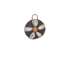 Gaea Ceramic Daisy Charm 14x17mm