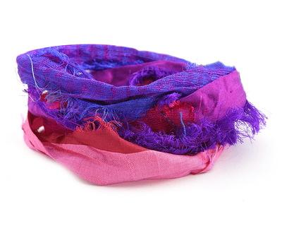 Sapphires 100% Silk Sari Windswept Ribbon