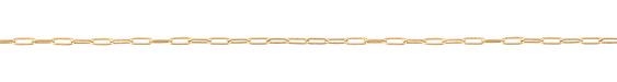 Satin Hamilton Gold (plated) Small Paperclip Chain