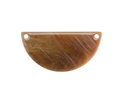Zola Elements Caramel Bullhorn Acetate Half Circle Link 30x15mm
