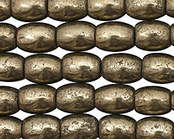Golden Pyrite (silver tone) Rice 10x8mm