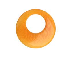 Tagua Nut Gold Gypsy Hoop 25mm