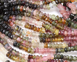 Tourmaline Faceted Rondelle 4-5mm