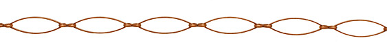 Antique Copper (plated) Horse Eye with Pinched Link Chain