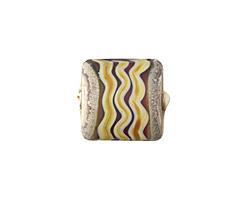 A Beaded Gift Rubino Raku River Glass Puff Pillow 14mm