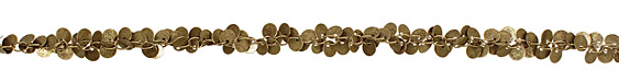 Antique Brass (plated) Dancing Coin Chain