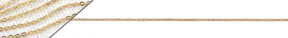 Gold (plated) Stainless Steel Tiny Cable Chain