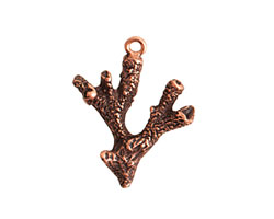 Nunn Design Antique Copper (plated) Coral Charm 21x27mm