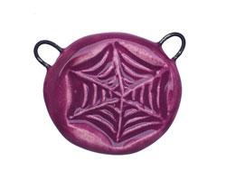 Gaea Ceramic Juju Grape Web 2-Loop Pendant 25-30x24-25mm