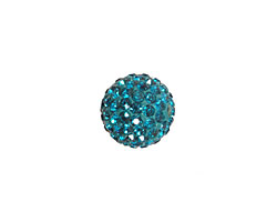 Teal Pave Round 12mm (1.5mm hole)