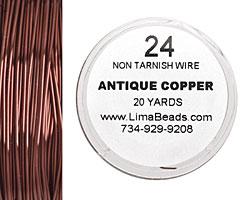 Parawire Antique Copper 24 gauge, 20 yards