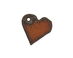 The Lipstick Ranch Rusted Iron Miniature Heart Pendant 19mm