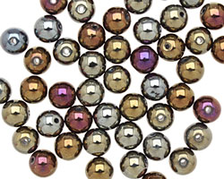 Czech Glass Iris Brown Round 6mm