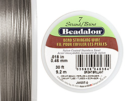 "Beadalon Bright .018"" 7 Strand Wire 30ft."