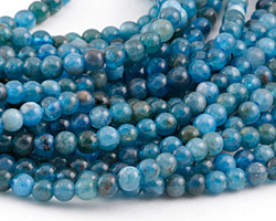 Pacific Blue Apatite (light) Round 4mm