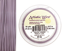Artistic Wire Lavender 26 gauge, 30 yards