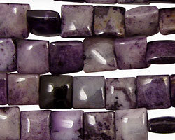Purple Crazy Lace Agate Puff Square 8mm