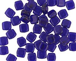 CzechMates Glass Cobalt 2-Hole Tile 6mm
