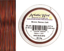 Artistic Wire Brown 26 gauge, 30 yards