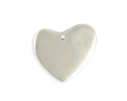 Vintaj Antique Sterling Silver (plated) Asymmetrical Heart Blank 31x30mm