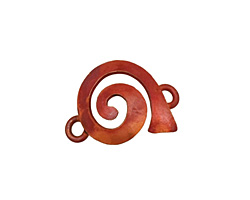 Patricia Healey Copper Left Wide Spiral Link 23x16mm