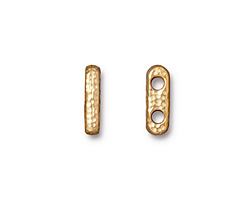 TierraCast Gold (plated) Distressed 2-Hole Bar 3x13mm