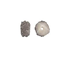 Metallic Silver Luster Druzy Slice 5-8x8-11mm