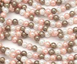 Fawn Shell Pearl Mix Round 4mm